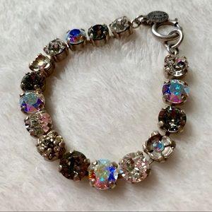 La Vie silver & crystal bracelet Catherine Popesco